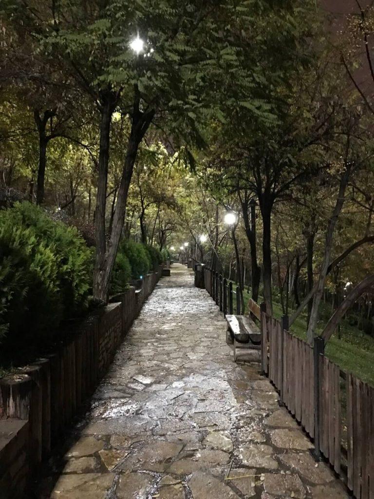 پارک های تهران برای شبگردی