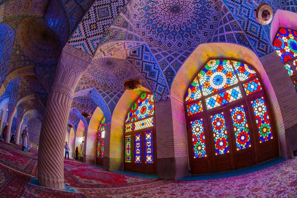 مسجد صورتی جاذبه گردشگری شیراز
